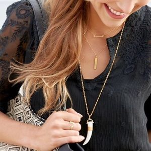 Stella & Dot Sahara Horn necklace